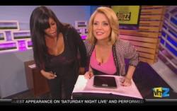 Carrie Keagan Weighs Her Huge Boobs on National TV