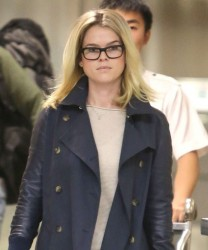 Alice Eve - arrives at LAX Airport 1/5/13