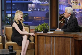 Emma Stone appearance on Jay Leno Jan. 8 HQ's