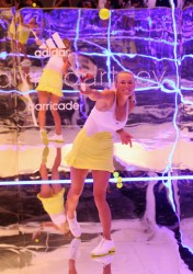 Caroline Wozniacki - Adidas by Stella McCartney media launch in Melbourne 1/13/13