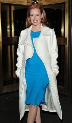 Jessica Chastain - leaves after appearing on Late Night with Jimmy Fallon in NYC 1/18/13