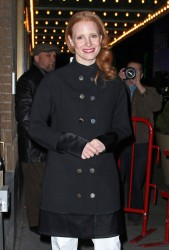 Jessica Chastain - outside the Walter Kerr Theater in NYC - Jan 19, 2013
