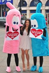 Lacey Banghard - at a PETA photocall in London 1/22/13