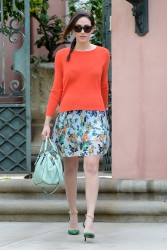 Emmy Rossum - running errands in Beverly Hills 1/29/13