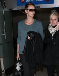 Charlize Theron - arrives at LAX Airport 2/10/13