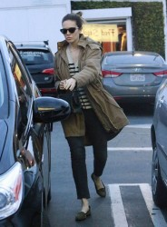 Mandy Moore - shops at Fred Segal in West Hollywood 2/10/13