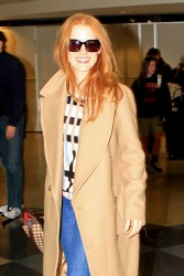 Jessica Chastain - at LAX Airport 2/15/13