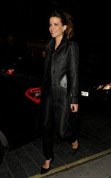 Kate Beckinsale - going out to dinner in London 2/18/13