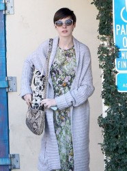 Anne Hathaway - at a meeting in Brentwood 2/26/13