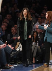 Katharine McPhee - Knicks vs Warriors game in NYC 2/27/13