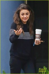 Mila Kunis - leaves the Coffee Bean &amp;amp; Tea Leaf in Studio City 3/5/13