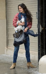Katie Holmes - out and about in NYC 3/8/13