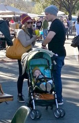 Hilary Duff - at an antique market in Pasadena 3/10/13