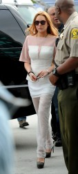 Lindsay Lohan - arrives for her court appearance in LA 3/18/13