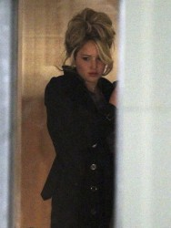 Jennifer Lawrence - on the set of 'Abscam' in Boston 3/22/13