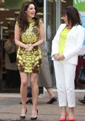 Kelly Brook - filming an advert for ITV in London 3/26/13