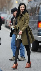 Krysten Ritter - on the set of 'Assistance' in NYC 3/27/13
