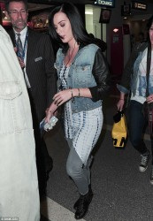 Katy Perry - at LAX Airport 4/1/13