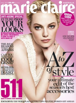 Emma Stone May 2013 Australian Marie Claire cover