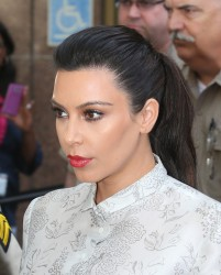 Kim Kardashian - Attending divorce hearing in LA 4/12/13