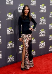 Zoe Saldana - 2013 MTV Movie Awards 4/14/13