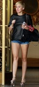 Miley Cyrus Leggy in Shorts in Beverly Hills - April 22, 2013