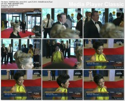 TAMRON HALL red carpet - white house correspondents' dinner - april 27,2013