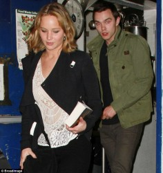 Jennifer Lawrence - leaving The Little Door restaurant in Hollywood 4/29/13