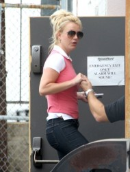Britney Spears - at a recording studio in Hollywood 4/30/13