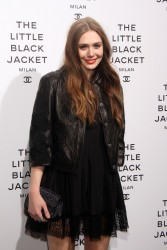 Elizabeth Olsen - 'Chanel The Little Black Jacket' photo exhibition in Milan 5/3/13