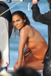 Jennifer Lopez - filming her new music video in Fort Lauderdale 5/5/13