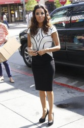 Eva Longoria - on the set of Extra in LA 5/7/13