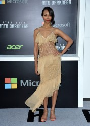 Zoe Saldana - 'Star Trek Into Darkness' premiere in Hollywood 5/14/13
