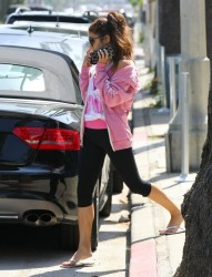Vanessa Hudgens - Leaving pilates class in Studio City 5/15/13