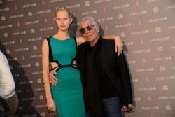 Karolina Kurkova - Roberto Cavalli flagship store opening in Vienna 5/24/13
