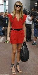 Stacy Keibler - at the racetrack in Monaco 5/25/13