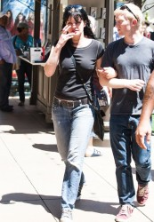 Pauley Perrette - on the set of Extra in LA 5/28/13