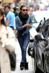 Irina Shayk - out in Paris 6/1/13