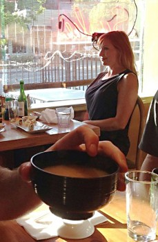 Kari Byron |  Huge Boobies at Sushi Bar | 1 MQ ISG | 2/6/13