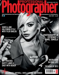 Lindsay Lohan in Professional Photographer Magazine - July 2013