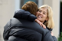 Rosamund Pike - on the set of 'What We Did On Our Holiday' in Glasgow 6/17/13