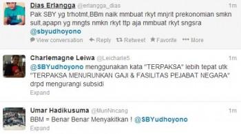 Pengguna Twitter mencerca akun @sbyudhoyono