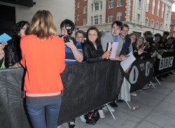 Bridgit Mendler - leaves BBC Radio 1 studios in London 6/20/13
