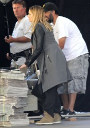 Kristen Bell - on the set of 'Veronica Mars' in LA 6/26/13