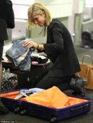 Delta Goodrem - at Sydney Airport 6/27/13
