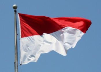 Bendera merah putih terjatuh saat dikibarkan - Ist.
