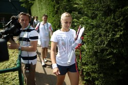 Sabine Lisicki - at a practice session in London 7/6/13