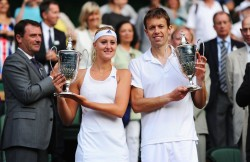 Kristina Mladenovic - Wimbledon 2013 Mixed Doubles Final in London 7/7/13