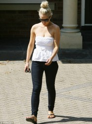Helen Flanagan - returns to her former home in Cheshire 7/8/13