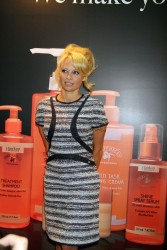 Pamela Anderson - At the Cosmoprof Convention at Mandalay Bay Hotel in Las Vegas 7/14/13
